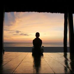 Sunset meditation at Rise, Bali