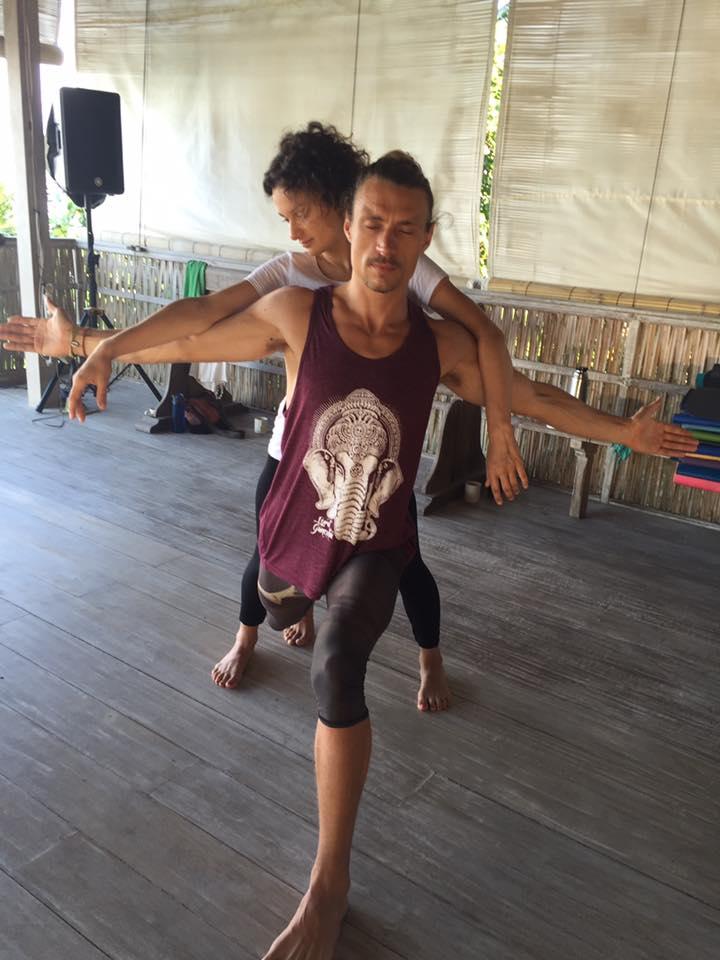 Man dancing at rise retreat