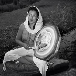 Amma and medicine drum