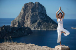 Woman doing Yoga in Bali