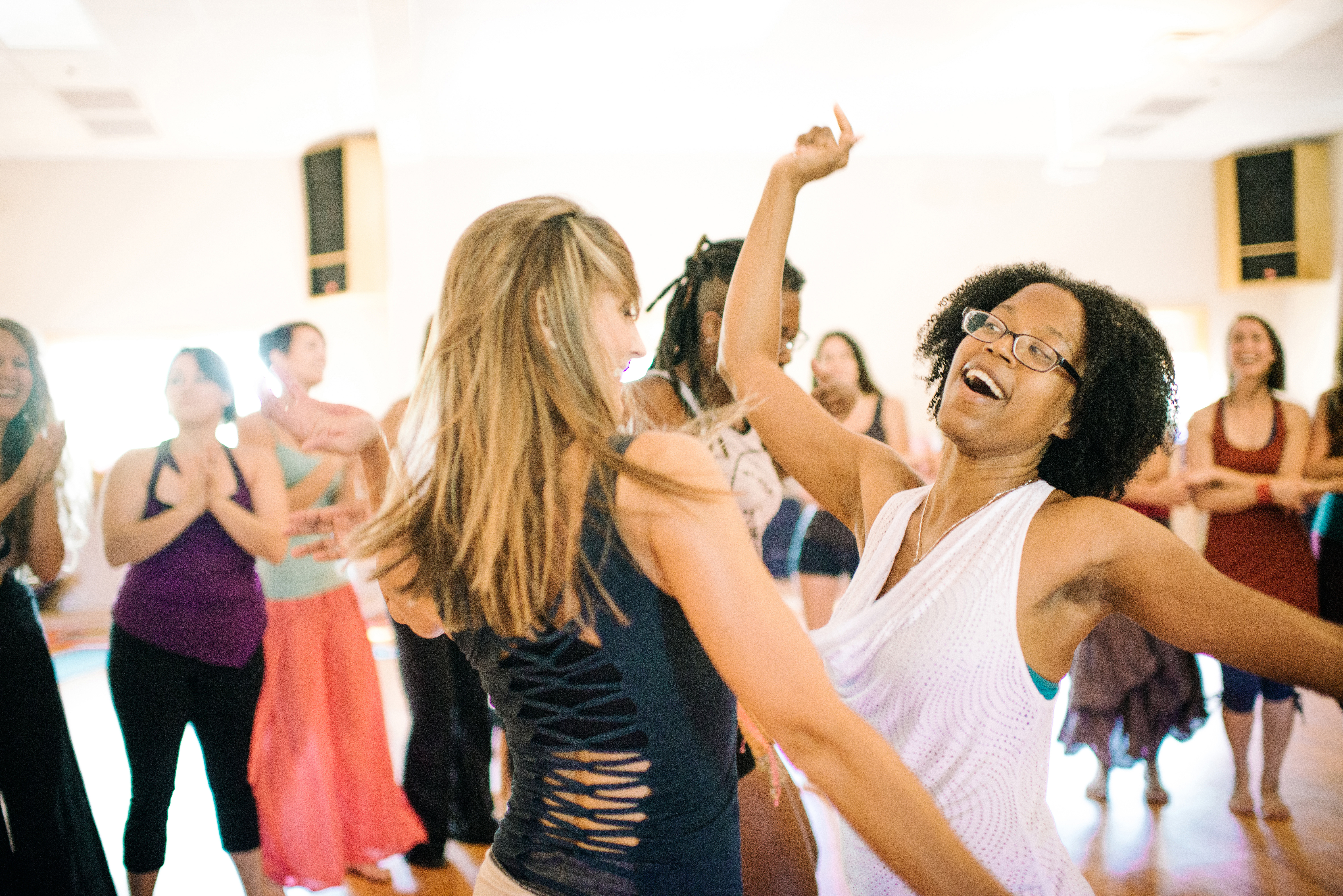 African dance practice class