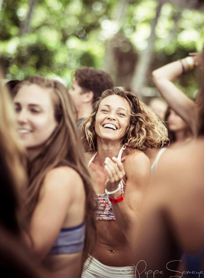Women dancing at rise retreat