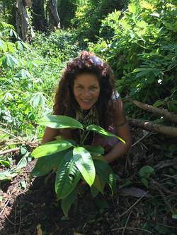 Malaika planting tree