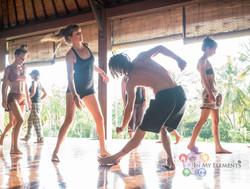 5elements dance practice in Bali