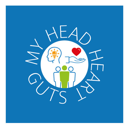 Ontwerp - Logo 'My head, heart, guts'
