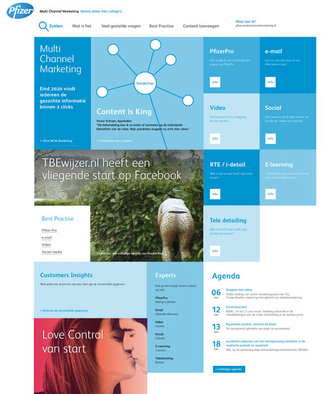 Ontwerp - Multi Channel Marketing pagina voor intern gebruik