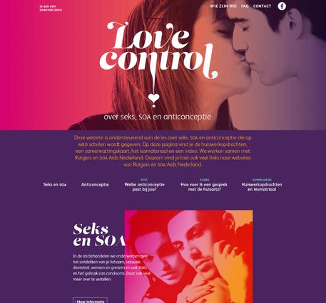 Ontwerp - website love-control.nl