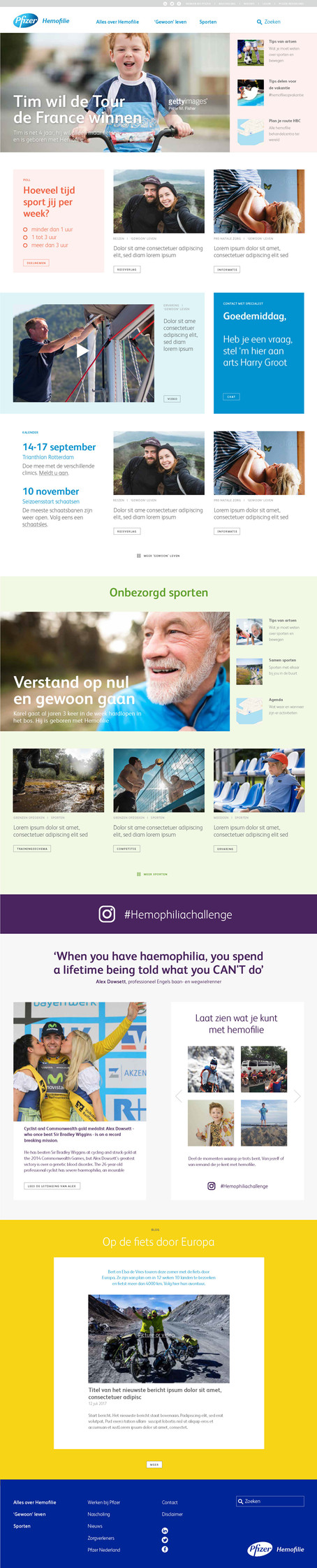 Ontwerp - hemofilie website