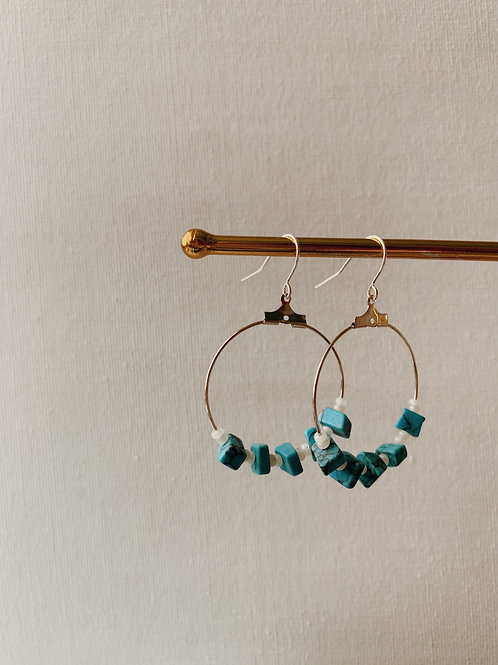 Beaded Iratxe Hoops