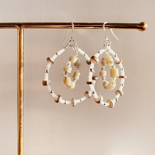 Beaded Claudia Hoops