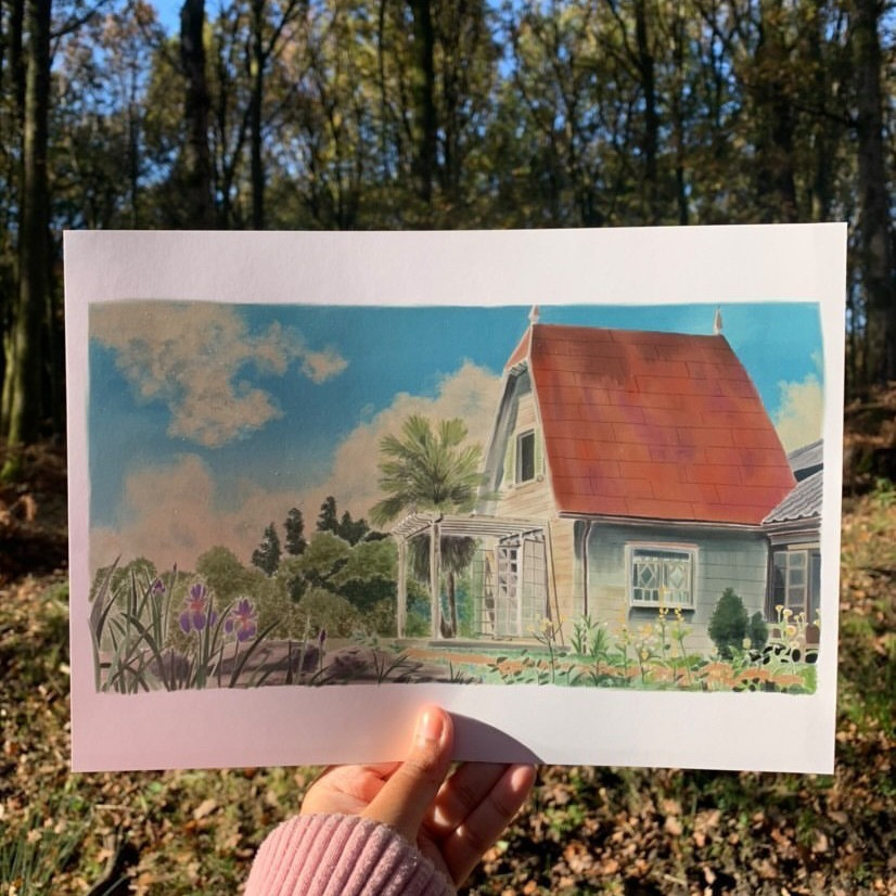 Watercolour House Painting