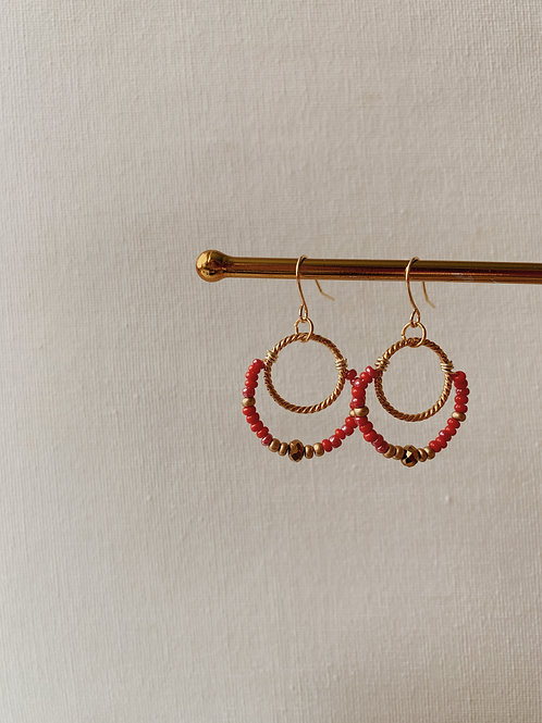 Beaded Gabi Hoops