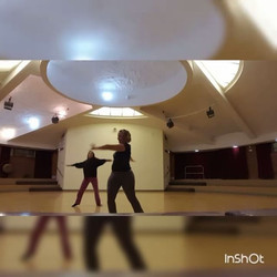 One of our instructors and I getting ready for Dance to DESTRESS on Wednesday nights at 7_30 PM at t