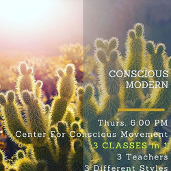 Sample 3 classes in 1!! A conscious approach to modern dance technique through 3 different teachers