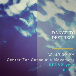 TONIGHT at 7_30!  SOON!  JOIN us for Carie's class DANCE to DESTRESS and gently  release tension you