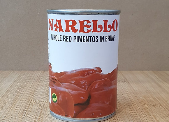 Narello Sweet Red Pimento Peppers - 390g