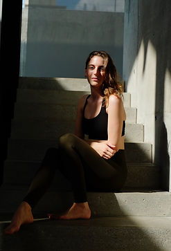 London yoga instructor Kate Hiley relaxing