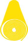 Bright yellow yoga mat icon - come to Y-oga Store Peckham and try a mat for yourself in one of our yoga classes