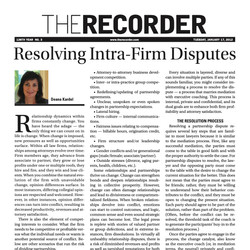 """""""Resolving Intra-Firm Disputes"""""""
