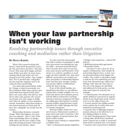 """""""When Your Law Partnership Isn't Working"""""""