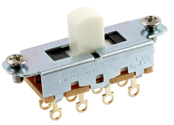 ALL PARTS SWITCH DESLIZABLE ON-OFF-ON, COLOR  BLANCO EP-0261-025