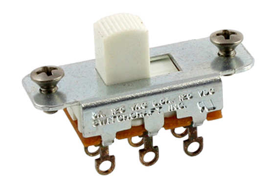 ALL PARTS SWITCH DESLIZABLE ON-ON, COLOR  BLANCO EP-0260-025