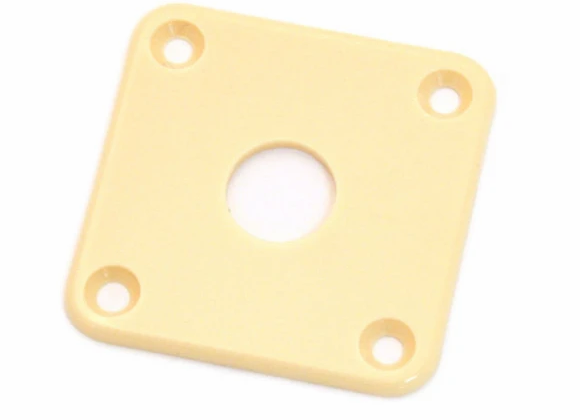 SQUARE JACKPLATE FOR LES PAUL cream
