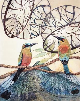 Clock-Birds II- Turquoise-Browed Motmots