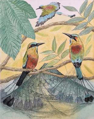 Clock-Birds I, Turquoise-Browed-Motmots