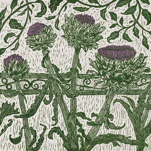 Artichokes V (green/purple)