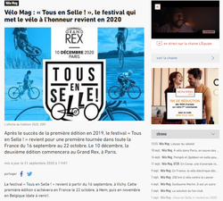 Article VéloMag - Septembre 2020