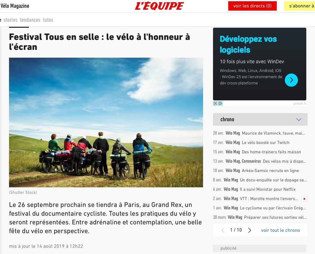 L'ÉQUIPE - Août 2019