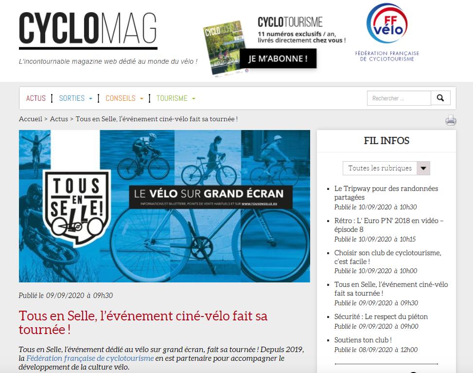 CycloMag - Septembre 2020