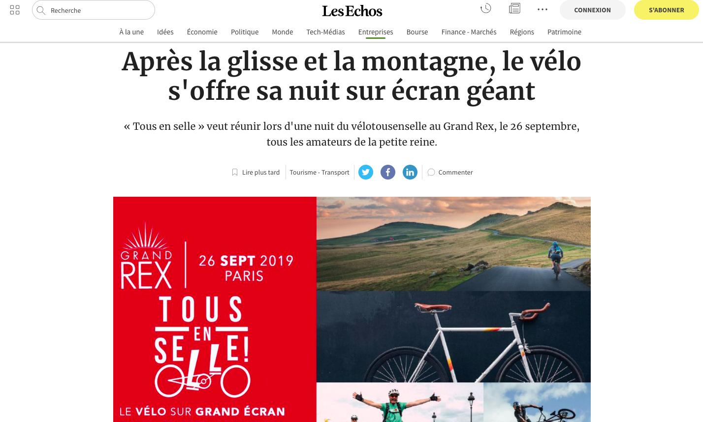 LES ECHOS - Septembre 2019