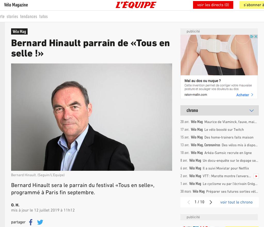 L'ÉQUIPE - Juillet 2019