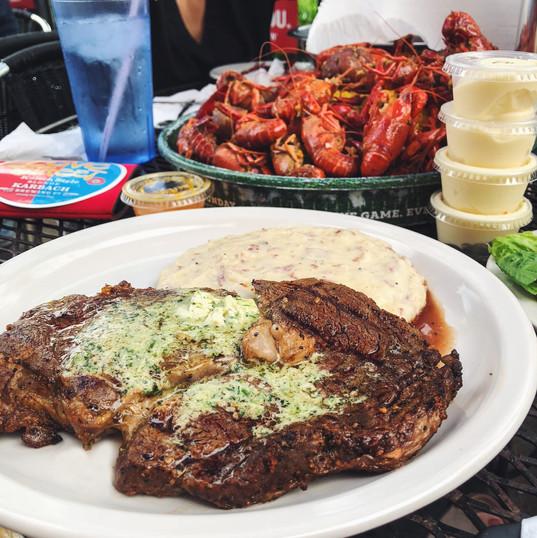Steak + Crawfish