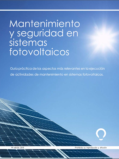 """Libro """"Mantenimiento y seguridad en sistemas fotovoltaicos"""""""