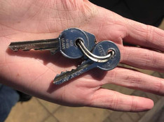 I've found some keys in Formby village