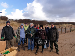 Well done to all the volunteers who collected a staggering  104kg of waste from Formby beach