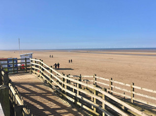Good Morning on Bank Holiday Easter Monday on this sunny day with snow showers in Formby
