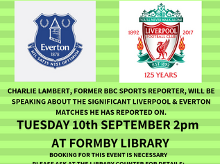 September's talk at Formby Library