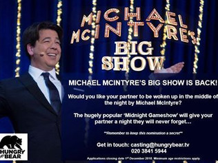 BBC looking for contestents for 'Michael McIntyre's Big Show'