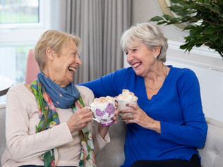 A Warming Morning of coffee and cake for CALM charity at Formby retirement development