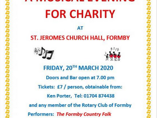 Formby Rotary Concert Cancelled