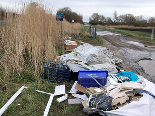 Disgusting mess fly tipped