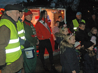 Father Christmas pays a visit to the lights turn on - plus a change to dates for the santa wagon