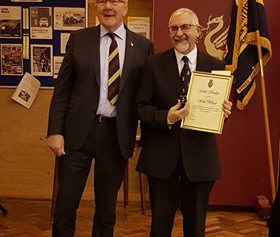 Gold Badge awarded to Formby man for his service and dedication to the Royal British Legion