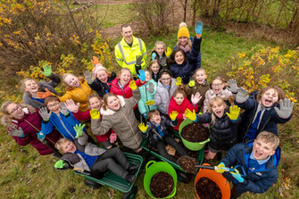 Primary school eco-club flourishes thanks to donation from housebuilder