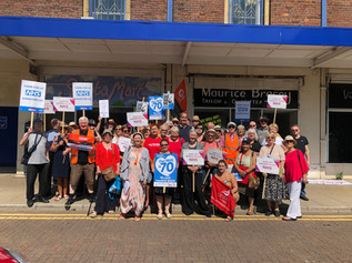 MP and activists celebrate NHS at venue that played important role in birth of the service