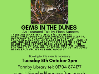 October's talk at Formby Library